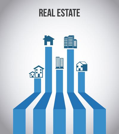real estate graphic design , vector illustration Vector Illustration