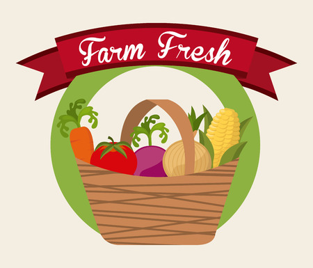 farm fresh graphic design , vector illustration Vector