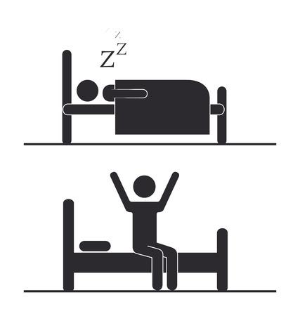 good break: Sleep design over white background, vector illustration Illustration