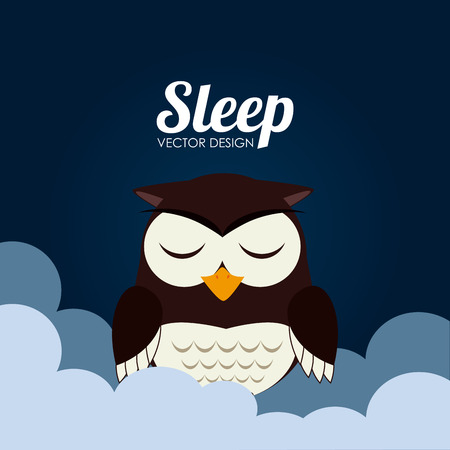 delusion: Sleep design over cloudscape background, vector illustration Illustration
