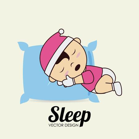 good break: Sleep design over beige background, vector illustration Illustration