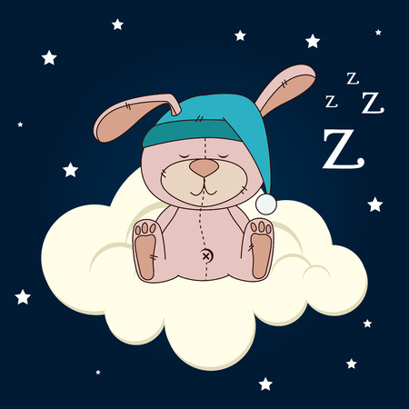 zzz: Sleep design over cloudscape background, vector illustration Illustration