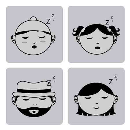 delusion: Sleep design over white background, vector illustration Illustration
