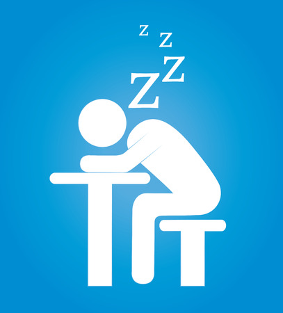 Sleep design over blue background, vector illustration Vector
