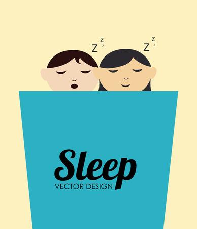 delusion: Sleep design over beige background, vector illustration Illustration