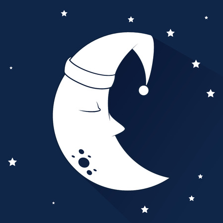 good break: Sleep design over cloudscape background, vector illustration Illustration