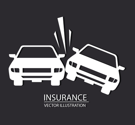 auto accident: Insurance design over white background, vector illustration Illustration