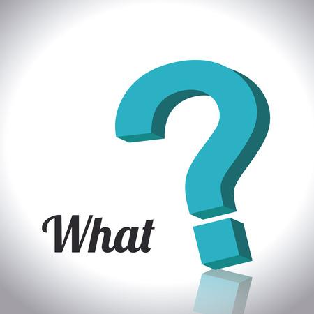 Question design over white background, vector illustration