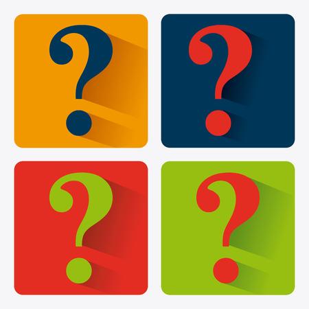 mark: Question design over white background, vector illustration