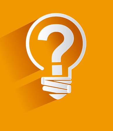 Question design over yellow background, vector illustration Vector