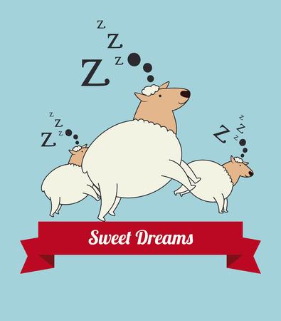 good break: Sleep design over blue background, vector illustration