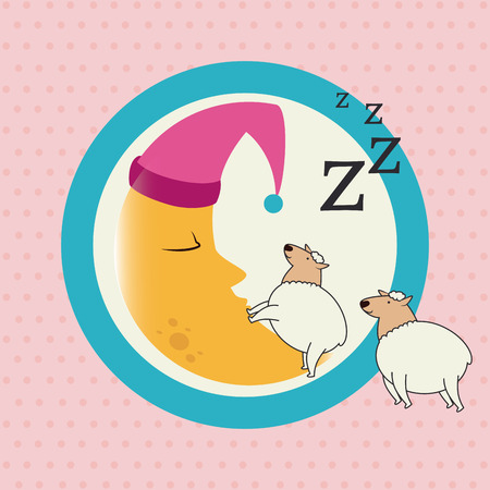 Sleep design over pink background, vector illustration Vector