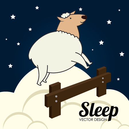 Sleep design over cloudscape background, vector illustration Vector