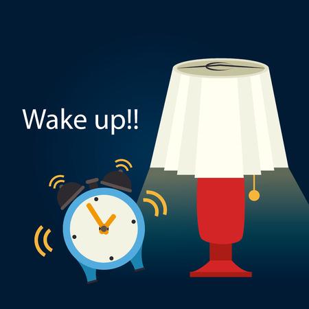 good night: Sleep design over cloudscape background, vector illustration Illustration