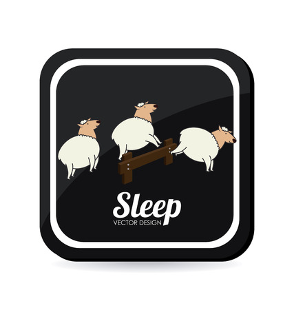 Sleep design over white background, vector illustration Vector