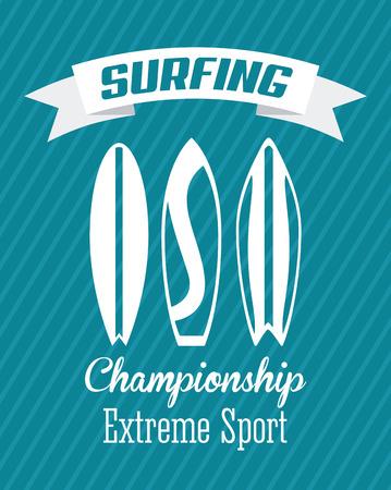 surfboard: surfing graphic design , vector illustration