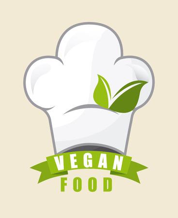 vegan: vegan food graphic design , vector illustration Illustration