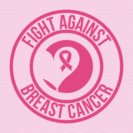 breast cancer graphic design , vector illustration Vector
