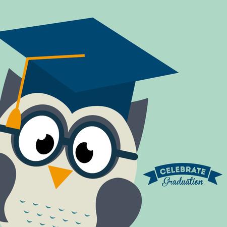graduation graphic design , vector illustration Illustration