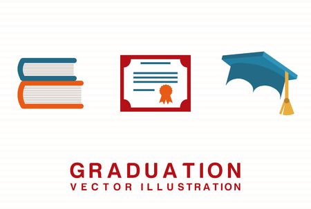 graduation graphic design , vector illustration Illustration