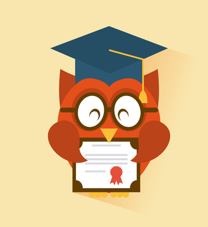 master degree: graduation graphic design , vector illustration Illustration