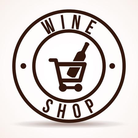 comerce: wine graphic design , vector illustration