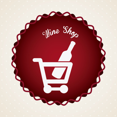 comerce: wine graphic design , vector illustration