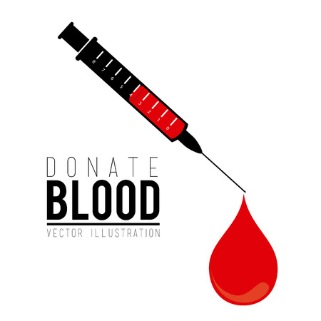 donating: Blood design over white background, vector illustration