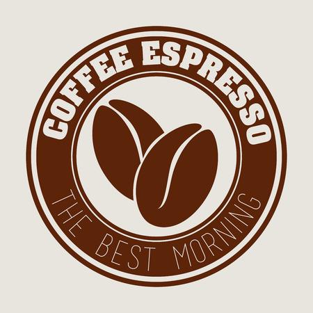 Coffee design over beige background, vector illustration Vector