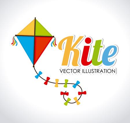 Kite design over white background, vector illustration