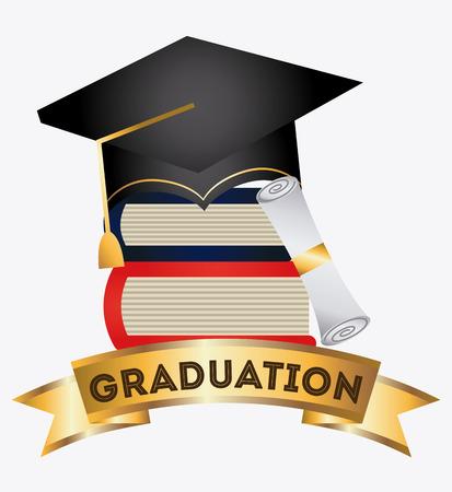 graduation graphic design , vector illustration Vector