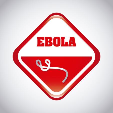 the bacteria signal: ebola graphic design , vector illustration