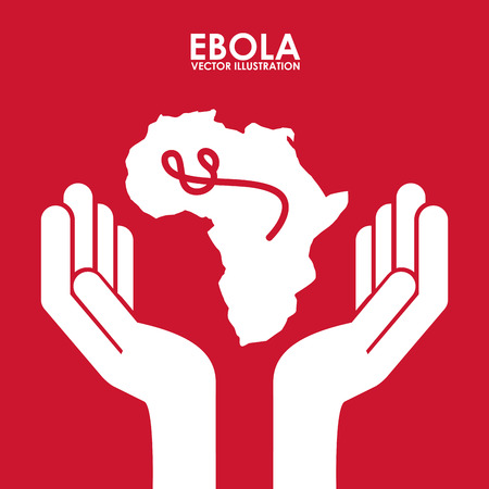 deadly danger sign: ebola graphic design , vector illustration