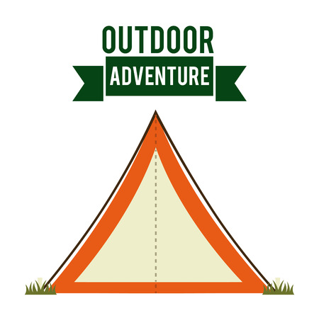 forest camping graphic design , vector illustration Vector
