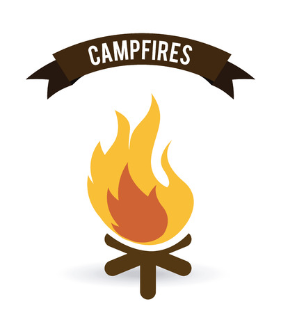 forest fire: forest camping graphic design , vector illustration