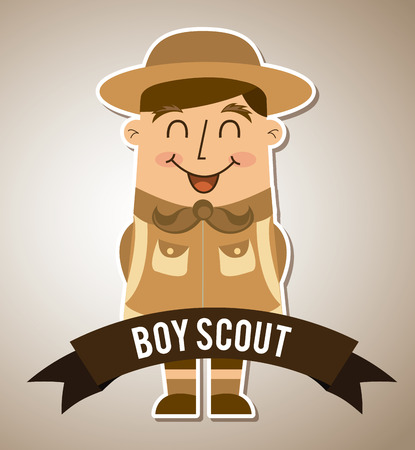boy scout graphic design , vector illustration Vector