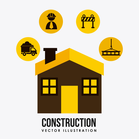 construction graphic design , vector illustration Vector