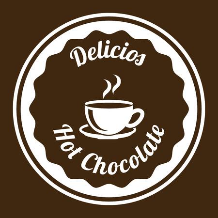 chocolate graphic design , vector illustration Vektoros illusztráció