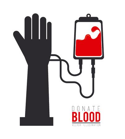 blood bag: Blood design over white background, vector illustration