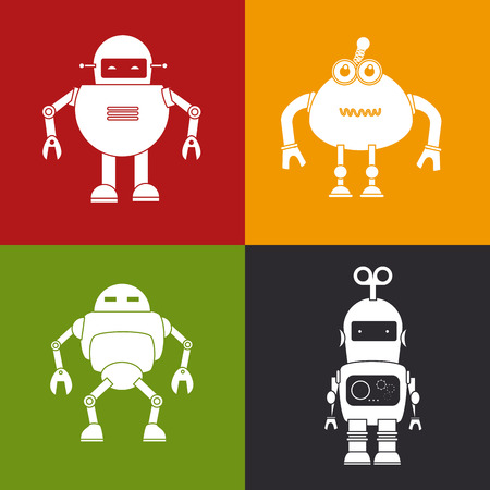 Robot design over colorful background, vector illustration Vector