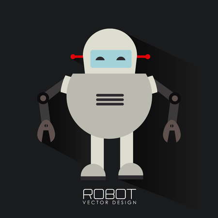 Robot design over black background, vector illustration Vector