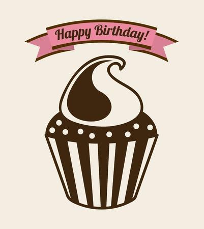 cupcake illustration: cupcake graphic design , vector illustration