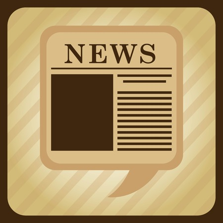 newsprint: news graphic design , vector illustration