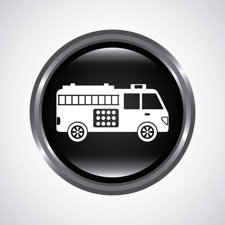 fire truck graphic design , vector illustration Vector