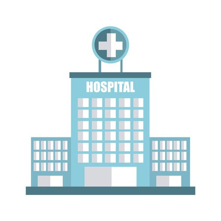 cross street with care: hospital graphic design , vector illustration