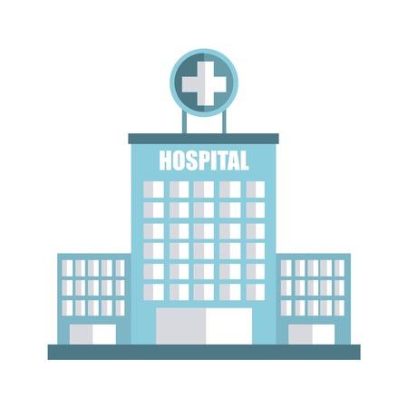 hospital graphic design , vector illustration
