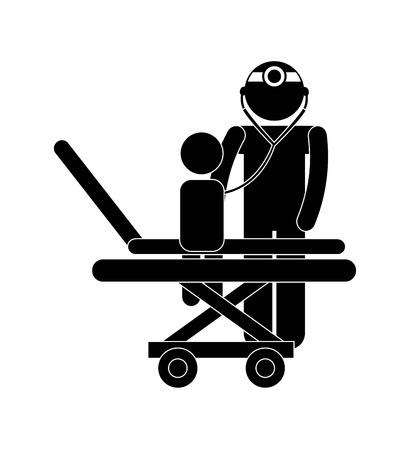 pediatrician graphic design , vector illustration Vector
