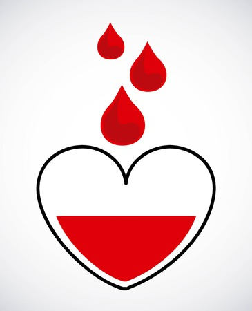 donating: donate blood graphic design , vector illustration