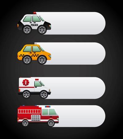 camion de bomberos: coches de diseño gráfico, ilustración vectorial