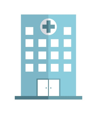 hospital sign: hospital graphic design , vector illustration